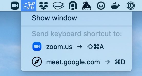 TouchKey status bar menu