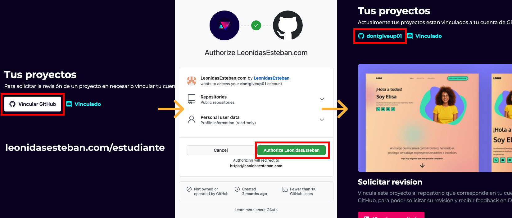 Vinculación de GitHub