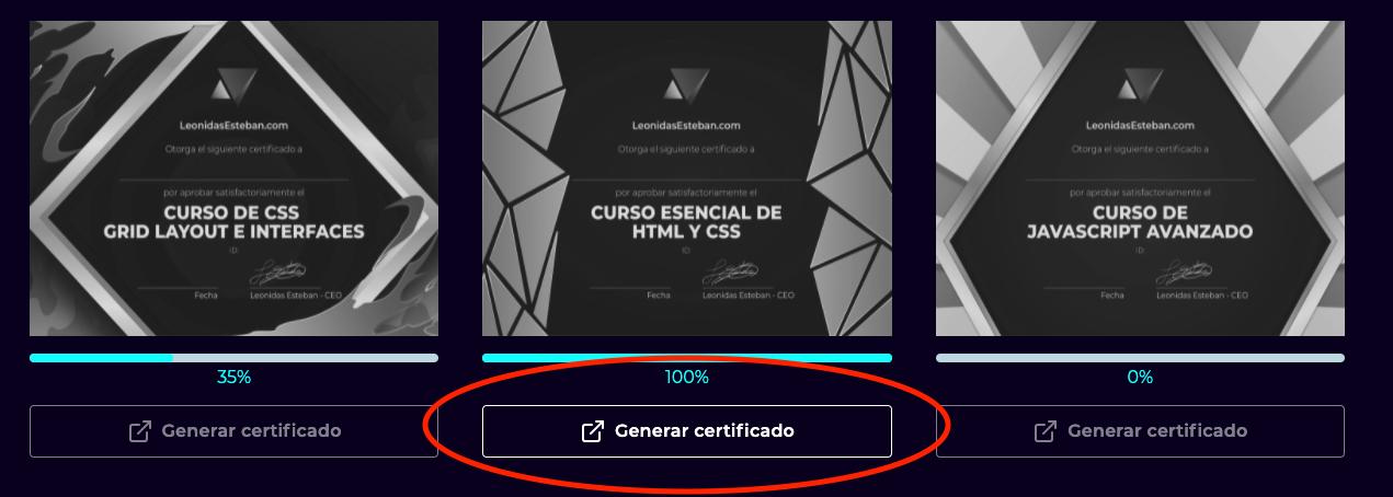 Generar Certificados